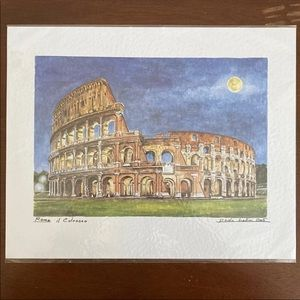Roma il Colosseo by Paolo Bellini Art Print